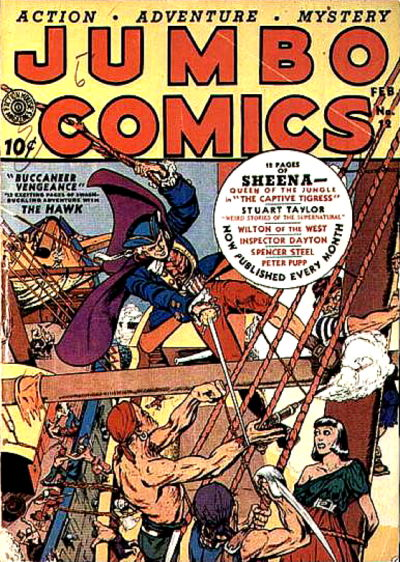 Cover for Jumbo Comics (Fiction House, 1938 series) #12