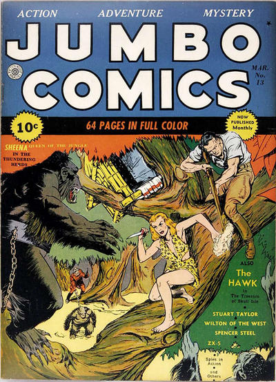 Cover for Jumbo Comics (Fiction House, 1938 series) #13