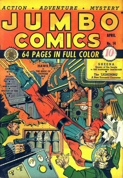 Cover for Jumbo Comics (Fiction House, 1938 series) #14