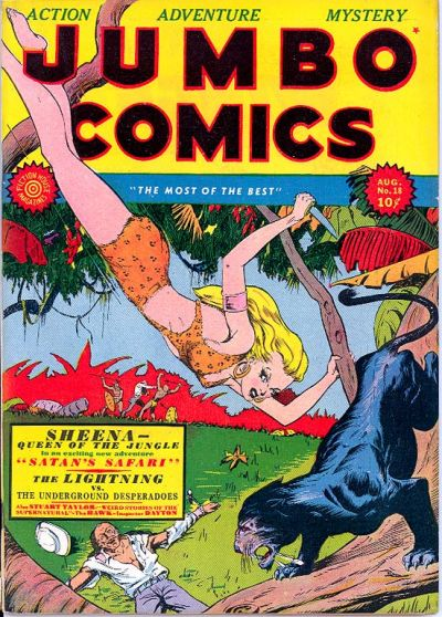 Cover for Jumbo Comics (Fiction House, 1938 series) #18