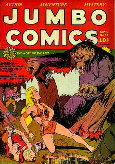 Cover for Jumbo Comics (Fiction House, 1938 series) #19