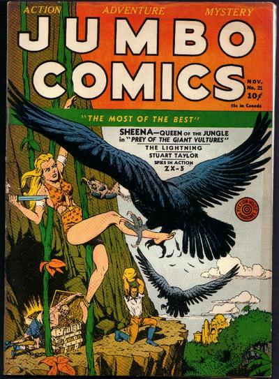 Cover for Jumbo Comics (Fiction House, 1938 series) #21