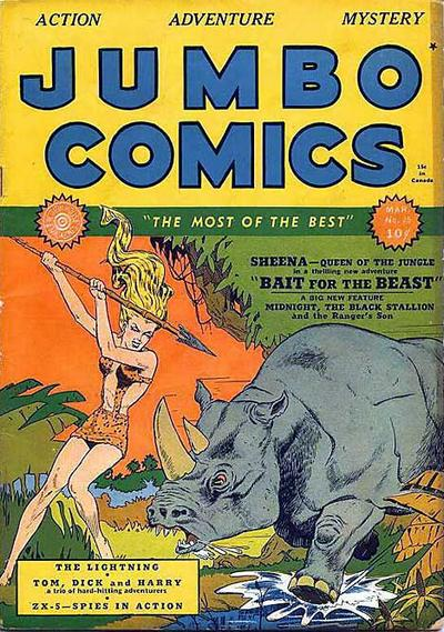 Cover for Jumbo Comics (Fiction House, 1938 series) #25