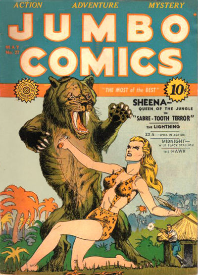 Cover for Jumbo Comics (Fiction House, 1938 series) #27