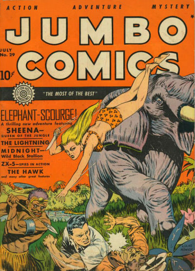 Cover for Jumbo Comics (Fiction House, 1938 series) #29