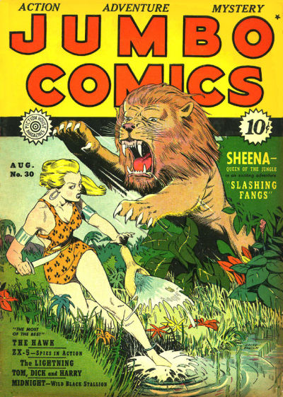Cover for Jumbo Comics (Fiction House, 1938 series) #30