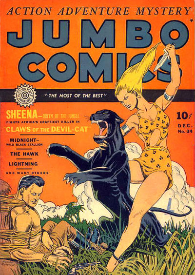 Cover for Jumbo Comics (Fiction House, 1938 series) #34