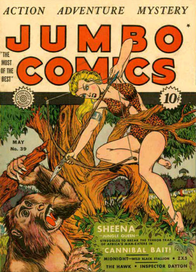 Cover for Jumbo Comics (Fiction House, 1938 series) #39
