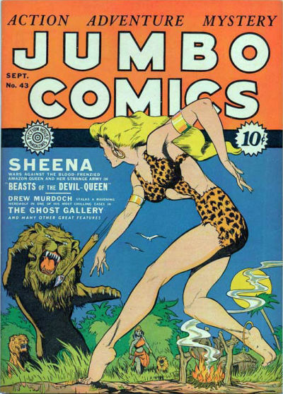 Cover for Jumbo Comics (Fiction House, 1938 series) #43
