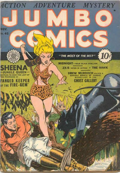 Cover for Jumbo Comics (Fiction House, 1938 series) #45