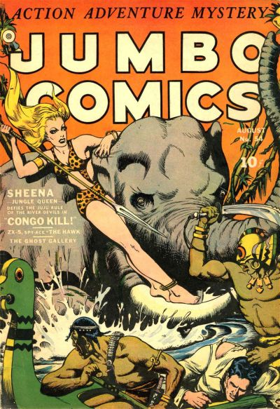 Cover for Jumbo Comics (Fiction House, 1938 series) #54