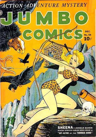 Cover for Jumbo Comics (Fiction House, 1938 series) #58