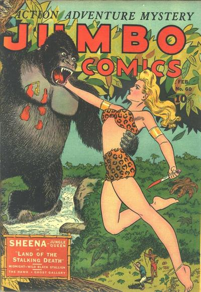 Cover for Jumbo Comics (Fiction House, 1938 series) #60