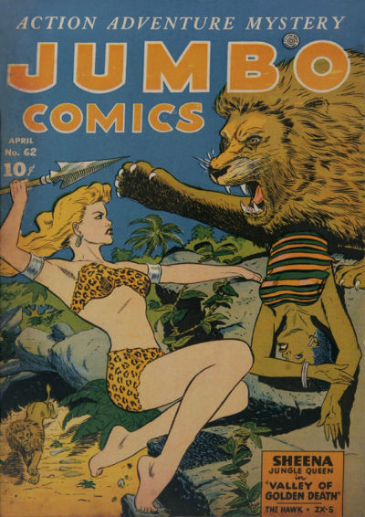 Cover for Jumbo Comics (Fiction House, 1938 series) #62