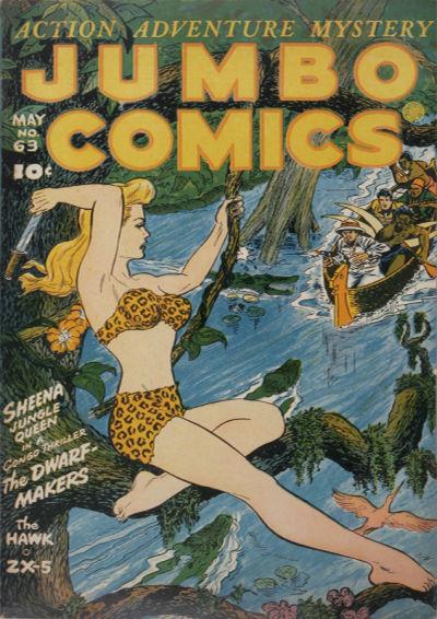 Cover for Jumbo Comics (Fiction House, 1938 series) #63