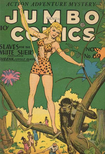 Cover for Jumbo Comics (Fiction House, 1938 series) #69