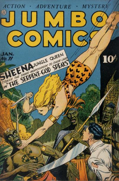 Cover for Jumbo Comics (Fiction House, 1938 series) #71