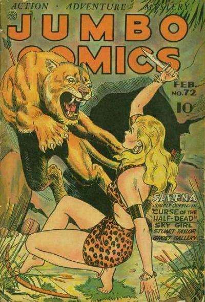 Cover for Jumbo Comics (Fiction House, 1938 series) #72