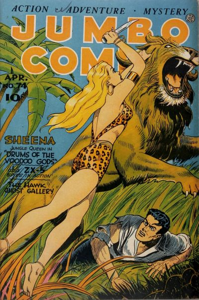 Cover for Jumbo Comics (Fiction House, 1938 series) #74