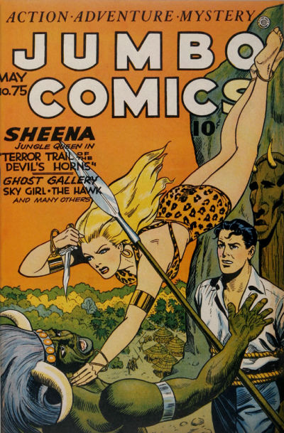 Cover for Jumbo Comics (Fiction House, 1938 series) #75