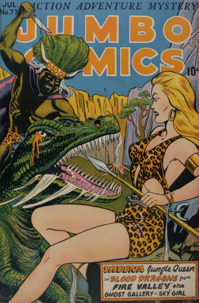 Cover for Jumbo Comics (Fiction House, 1938 series) #77