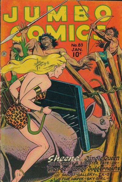 Cover for Jumbo Comics (Fiction House, 1938 series) #83