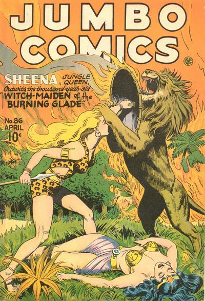 Cover for Jumbo Comics (Fiction House, 1938 series) #86