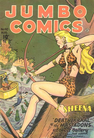 Cover for Jumbo Comics (Fiction House, 1938 series) #90