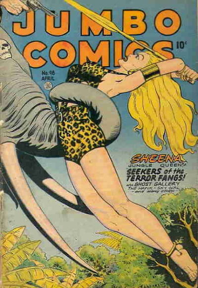 Cover for Jumbo Comics (Fiction House, 1938 series) #98