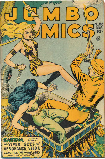 Cover for Jumbo Comics (Fiction House, 1938 series) #102