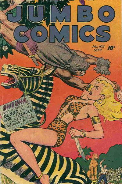 Cover for Jumbo Comics (Fiction House, 1938 series) #103