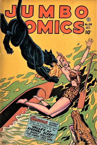 Cover for Jumbo Comics (Fiction House, 1938 series) #104