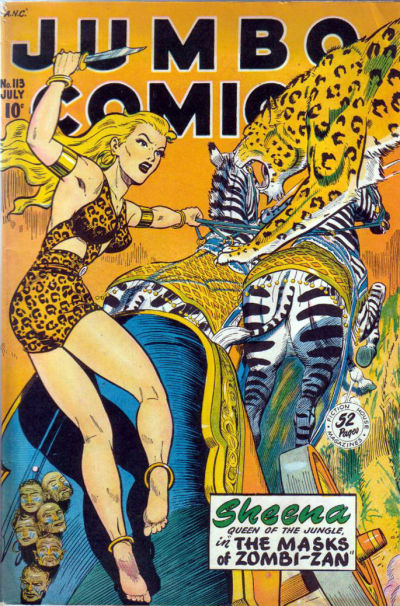 Cover for Jumbo Comics (Fiction House, 1938 series) #113