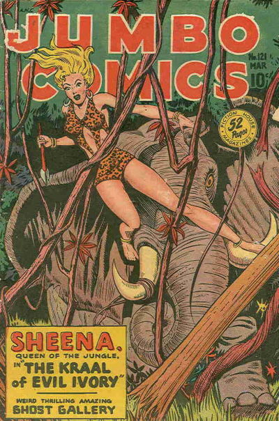 Cover for Jumbo Comics (Fiction House, 1938 series) #121