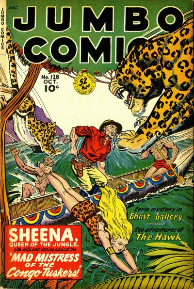 Cover for Jumbo Comics (Fiction House, 1938 series) #128