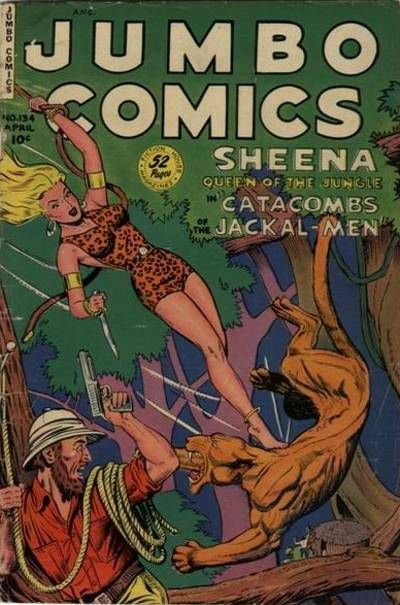 Cover for Jumbo Comics (Fiction House, 1938 series) #134