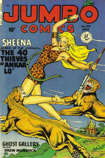Cover for Jumbo Comics (Fiction House, 1938 series) #135