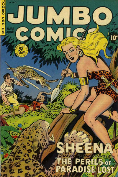 Cover for Jumbo Comics (Fiction House, 1938 series) #136