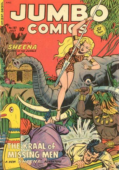 Cover for Jumbo Comics (Fiction House, 1938 series) #137