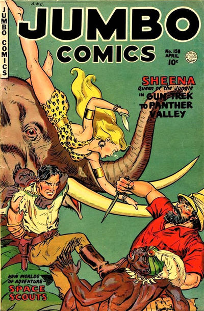 Cover for Jumbo Comics (Fiction House, 1938 series) #158