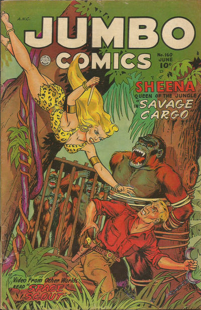 Cover for Jumbo Comics (Fiction House, 1938 series) #160