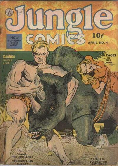 Cover for Jungle Comics (Fiction House, 1940 series) #4