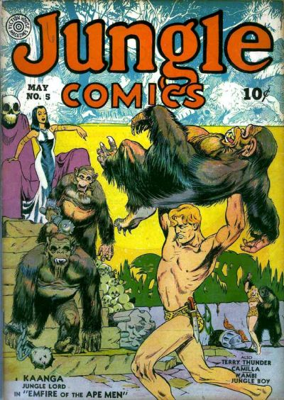Cover for Jungle Comics (Fiction House, 1940 series) #5