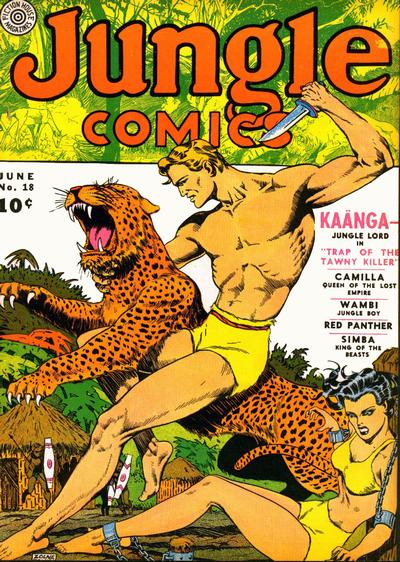 Cover for Jungle Comics (Fiction House, 1940 series) #18