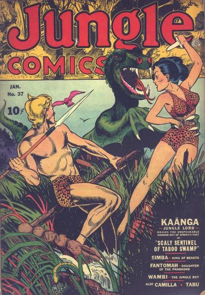 Cover for Jungle Comics (Fiction House, 1940 series) #37