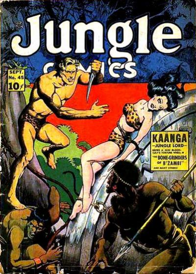 Cover for Jungle Comics (Fiction House, 1940 series) #45