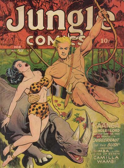 Cover for Jungle Comics (Fiction House, 1940 series) #50
