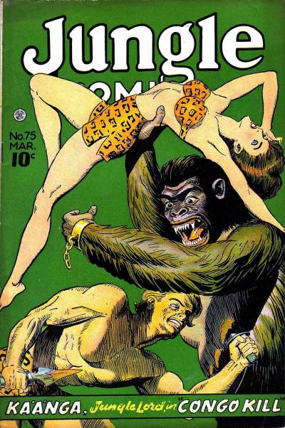 Cover for Jungle Comics (Fiction House, 1940 series) #75