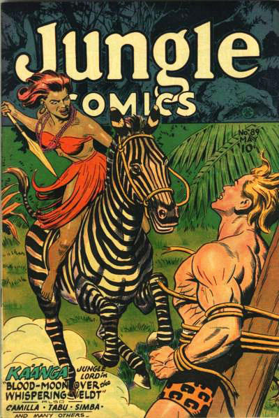 Cover for Jungle Comics (Fiction House, 1940 series) #89