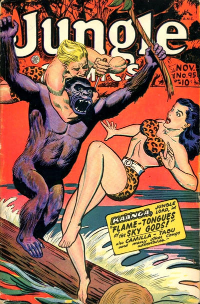 Cover for Jungle Comics (Fiction House, 1940 series) #95